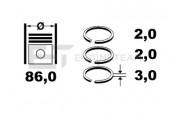 Et Engineteam R4000900 Комплект кілець на поршень