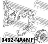 Febest 0482-NA4MF Пiдшипник ступицi колеса