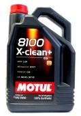 Motul 8100 X-CLEAN + SAE 5W-30 Синтетическое моторное масло