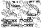Febest TSB-120FUP Сайлентблок