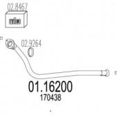 MTS 01.16200 Передня труба вихл. системи