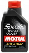 Motul SPEC 504-507 5W-30 Синтетическое моторное масло