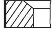 Mahle 081 RS 00104 0N0 Комплект кілець на поршень