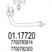 Mts 01.17720 Передня труба вихл. системи