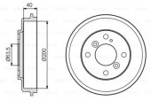 Bosch 0 986 477 240 Тормозный барабан