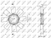 NRF 49858 Рабочее колесо вентилятора