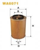 WIX WA6071 воздушный фильтр