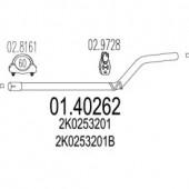 MTS 01.40262 Проміжна труба вихл. системи