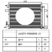 Parts-Mall PXNCC-043 P13377762 Конденсер кондиционера PMC Lacetti