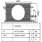 Parts-Mall PXNCC-018 P96484931 Конденсер кондиционера PMC  LACETTI