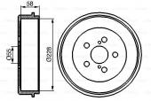Bosch 0 986 477 140 Тормозный барабан