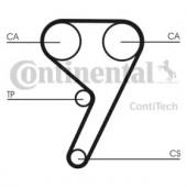 Contitech CT881WP2 Ременной комплект ГРМ с помпой
