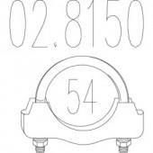 Mts 02.8150 Хомут вихлопної системи