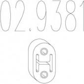 Mts 02.9381 Гумовий елемент кріплення