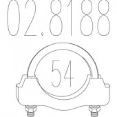 Mts 02.8188 Хомут вихлопної системи