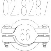 Mts 02.8287 Хомут вихлопної системи