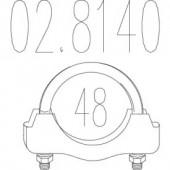 Mts 02.8140 Хомут вихлопної системи