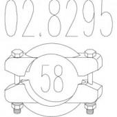 Mts 02.8295 Хомут вихлопної системи