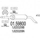 Mts 01.59800 Резонатор
