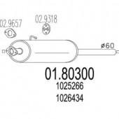 Mts 01.80300 Резонатор
