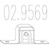Mts 02.9569 Гумовий елемент кріплення