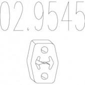 Mts 02.9545 Гумовий елемент кріплення