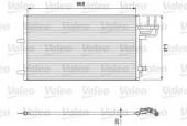 Valeo 818046 Радиатор кондиционера