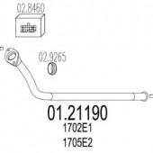 Mts 01.21190 Передня труба вихл. системи