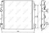 Nrf 58316A Радиатор системы охлаждения двигателя
