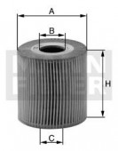 MANN-FILTER HU 7026 z масляный фильтр