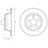 DELPHI BG2842C Тормозной диск