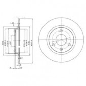 Delphi BG2355 Тормозной диск