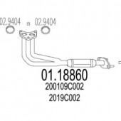 MTS 01.18860 Передня труба вихл. системи