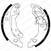 Delphi LS1682 Комлект тормозных накладок