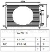 Parts-Mall PXNCC-019 P96834083 Конденсер кондиционера PMC Aveo 1,4-1,5