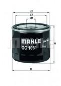 MAHLE OC 1051 масляный фильтр
