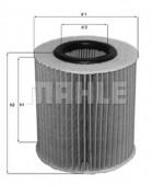 MAHLE OX 166/1D масляный фильтр
