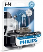 Philips WhiteVision H4 12V 60/55W ��������� �������, 1��
