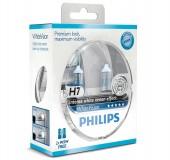 Philips WhiteVision H7 12V 55W Автолампа галогенная, 2шт