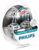 Philips X-tremeVision H4 12V 60/55W Автолампа галоген, 2шт