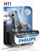 Philips BlueVision Ultra H11 12V 55W ��������� �������, 1��