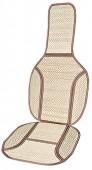 Vitol MF 121012 Накидка на сиденье бамбуковая бежевая, 2шт