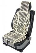 Vitol SC9037 Накидка на сиденье бамбуковая бежевая, 2шт