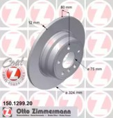 Zimmermann 150.1299.20 Тормозной диск на BMW X5 E53