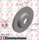 Zimmermann 150.3411.20 Тормозной диск BMW 7 E65 / E66 / E67