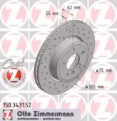 Zimmermann 150.3431.52 Тормозной диск BMW X3 E83