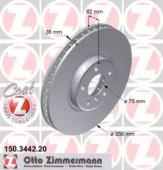 Zimmermann 150.3442.20 Тормозной диск на BMW X5 E53