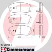 Zimmermann 24501.170.1 Комплект тормозных колодок