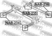 Febest NAB-235 Сайлентблок