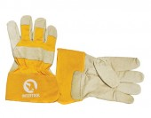 InterTool Перчатки кожаные замшевые желтые